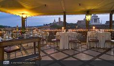 One of my favorites in Rome... Hotel Forum Roof Garden Restaurant