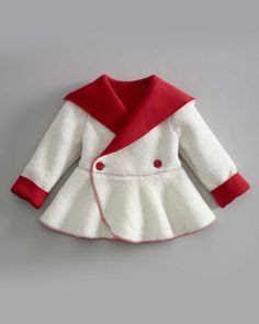 Chasing Fireflies red and white swing coat for ice skating. Baby Dress Patterns, Doll Clothes Patterns, Girl Doll Clothes, Girl Dolls, Toddler Outfits, Kids Outfits, Baby Kind, Baby Sweaters, Little Girl Dresses