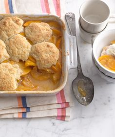 Easy-looking peach cobbler recipe! Thanks, Real Simple.