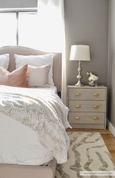 South Shore Decorating Blog: Some of My Favorite Images With Benjamin Moore Paint Colors #nightstand