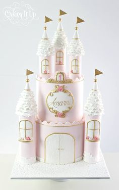 Stunning Princess Cake by Caking it up! x
