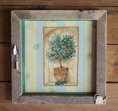 Tableau déco cuisine l'olivier aux olives noires : Décorations murales par sandrine