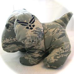 Custom Military Stuffed Animal Puppy ANY Military Branch, Deployment Animals on Etsy, $50.00