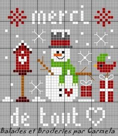 Christmas cross-stitching.