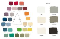 Annie Sloan paint swatches via Lobster & Swan