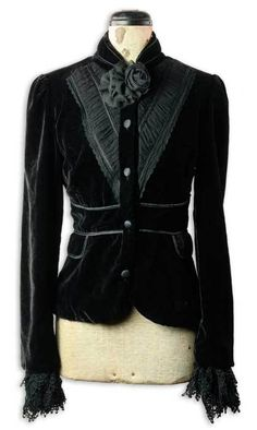 Very much my style.  Edwardian style black velvet blazer from Victorian Trading Co.