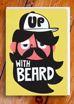 Pintachan is an International Graphic and Character illustrator from Spain. His work can be described as Retro, naïve, childish, pop and whimsical. Graphic Design Illustration, Illustration Art, Beard Art, Beard No Mustache, Fathers Day Cards, Art Pictures, Character Design, Stationery, Greeting Cards