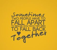 Two People Fall Apart