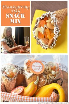 Fun snack mix to put together for your holiday guests!  Thanksgiving Day Cornucopia Snack Mix