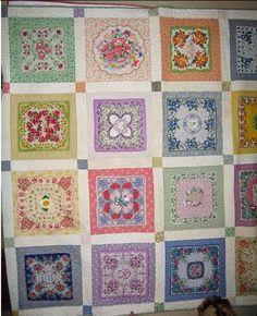 Vintage Hankie Quilts | hankie quilt