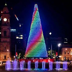 Loving the Christmas tree in Victoria Square by adelaidefoodcentral Christmas 2015, Merry Christmas, Xmas, Red Ornaments, South Australia, Tis The Season, Happy Holidays, Presents, Victoria