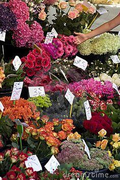 Fresh flowers at Outdoor Farmers Market #FlowerShop