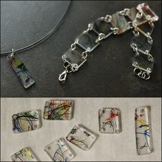 DIY Recycled Shrink Plastic Take Out Container Jewelry. Instead of paying for shrink plastic sheets, use #6 plastic (think temporary plastic...