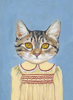 Margaret - A Cat in Clothes - Fine Art Print