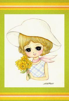 Jockey by marron-nagao on DeviantArt Apple Festival, Kawaii Illustration, Coloring Book Art, Girls With Flowers, Manga Drawing, Big Eyes, Chinese Art, Paper Dolls, Alice In Wonderland