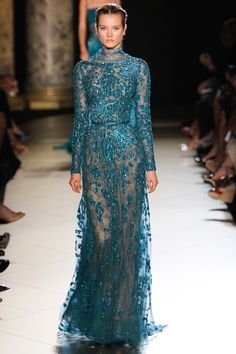 Elie Saab Haute Couture Fashion Show in Paris-Global Intimate Wear Elie Saab Couture, Style Couture, Couture Fashion, Runway Fashion, Beautiful Gowns, Beautiful Outfits, Fashion Week, Fashion Show, Fashion Mag