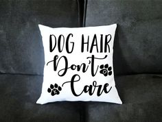 Personalized Dog Hair, Dont Care 14x14 Pillow Case - Funny Housewarming Gift For Dog Lovers - Couples Gifts by UncleJesses Home & Living  Bedding  Bed Pillows  Dog Lover  Cat Lover  Fur Babies  Pittbull  pug husky  goldendoodle boxer grey hound  german shepard  bulldog  Labrador  beagle  golden retriever  shih tzu