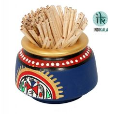 Blue Toothpick Holder
