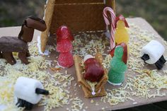 Kids had lots of fun with this! Candy Nativity