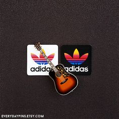Noel Gallagher's Colorful Retro Adidas Stickers by EverydayPins Noel Gallagher, Diy And Crafts, Colorful, Adidas, Stickers, Retro, Trending Outfits, Unique Jewelry, Oasis