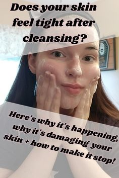 Here's why your skin feels tight after cleansing! + why your toner sometimes burns and how to stop it! Oily Skin Care, Skin Care Tips, Korean Skincare Routine, Dry Skincare, Japanese Makeup, Japanese Beauty, Korean Beauty, Asian Beauty, Natural Beauty