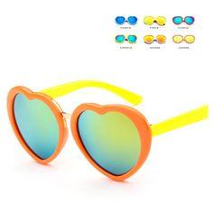 de01c3e59a UCOOL 2018 New Cute Girls Pink Mirror Lovely Sun Glasses Kid Baby Eyewear  High QualityFashionable Heart Shape Sunglasses.