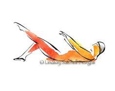 Swan Dive Pilates Art Print Pilates gifts by LindsaySatchell