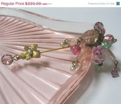 SALE 15 OFF Miriam Haskell Art Glass Brooch by Sisters2Vintage, $191.25