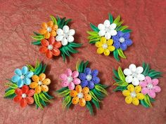 Flower fridge magnets for home decor
