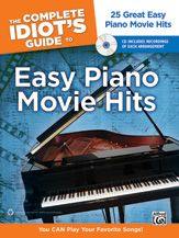 The Complete Idiot's Guide® to Easy Piano Movie Hits helps you teach yourself piano by having you learn by playing outstanding, accessible arrangements of music you love. It's like having a friend show you how to play all your favorite songs. For each arrangement you get lessons, warm-ups, tips, and techniques to make the most out of practice sessions, so you can spend more time making music. We also included an audio CD with recordings of each song.  #music #piano