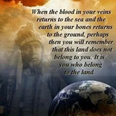 It is you who belong to the land