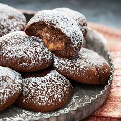Chocolate Crinkle Candy Surprise Cookies - Fall Cookie and Bar Recipes - Southern Living