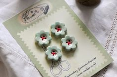 new flower buttonssew on buttons by LauraJaineWalker on Etsy