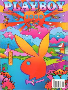 Back Issue January 2000 Playboy Magazine ~ Peter Max Cover ~ Bernaola Twins Collage Mural, Bedroom Wall Collage, Photo Wall Collage, Picture Wall, Art Collages, Wall Mural, Trippy Wallpaper, Retro Wallpaper, Cartoon Wallpaper