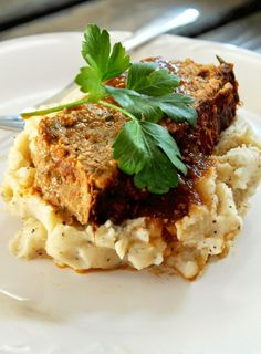 Mexican Meatloaf with Garlic Mashed Potatoes Recipe - RecipeChart.com