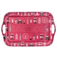 Ted Smith Red London Landmarks Melamine Tray 39cm #London #souvenirs #accessories #homedecor #giftware