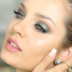 This soft green shimmer. | 19 Chloe Morello Looks You'll Want To Try Immediately