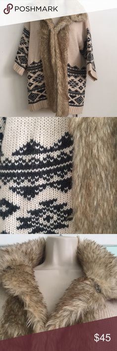 FOREVER 21 Fur Sweater It's still snowing outside! Stay warm with this chic sweater!  71% Acrylic  29% Wool 29% Polyester Forever 21 Sweaters Cardigans