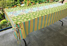 Easy Entertaining: Dress Up A Folding Table With A Fitted Tablecloth |  Pinterest | Folding Tables, Blog And Sewing Projects