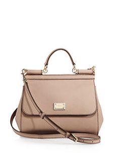 Dolce & Gabbana - Medium Miss Sicily Leather Top-Handle Satchel