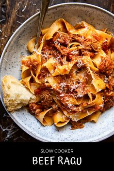 Slow Cooker Beef Ragu Authentic Italian Beef Ragu made easily in your slow cooker Beef Ragu Slow Cooker, Slow Cooker Italian Beef, Slow Cooked Beef, Slow Cooker Bolognese, Pasta Recipes, Beef Recipes, Cooking Recipes, Italian Recipes Crockpot, Authentic Italian Recipes