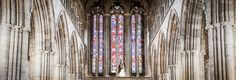 The bride and groom kiss with the magnificent stained glass windows of Dunblane Cathedral behind them Stirling Castle, Wedding Photos, Wedding Day, Destination Wedding Locations, Stained Glass Windows, Dunblane Hydro, Newlyweds, Cathedral, Groom