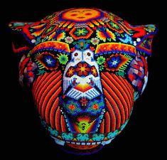Jaguar, Beaded Animals, Bead Art, Beading, Captain Hat, Hats, Bead Animals, Beads