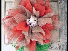 Poly Jute - Poly Burlap Flower Tutorial - Trendy Tree Blog| Holiday Decor Inspiration | Wreath Tutorials|Holiday Decorations| Mesh & Ribbons