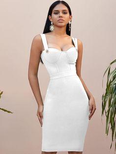 Bodycon Midi Skirt, White Midi Dress, Green Dress, White Gowns, Knee Length Dresses, Summer Dresses, Formal Dresses, Dress P, Weeding
