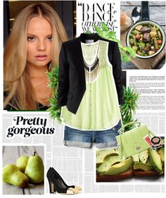 """""""Light green."""" by reka-hegyes ❤ liked on Polyvore"""