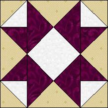 Block of the Day for November 2013 - Castles in Spain. (No Pattern) Quilt Blocks Easy, Easy Quilts, Block Quilt, Barn Quilt Patterns, Pattern Blocks, Quilting Tutorials, Quilting Projects, Stained Glass Quilt, Quilt Of Valor