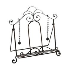 Cast Iron Recipe book holder, with dangle weights