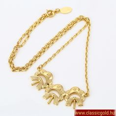 Nyakláncok : Klokhe nyaklánc (18) Gold Necklace, Bracelets, Jewelry, Fashion, Chic, Moda, Gold Pendant Necklace, Jewlery, Bijoux
