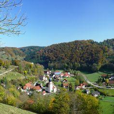 Bichishausen egy romantikus kerület Münsingen a Nagy Lauter.